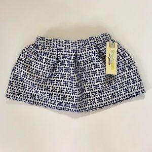 Genuine Kids Blue Patterned Skirt NWT